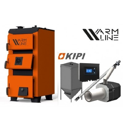 Котел Warmhaus Premium 33 кВт + горелка KIPI 36 кВт + бункер