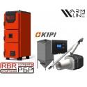 Котел Warmhaus Premium 42 кВт + горелка KIPI 50 кВт + бункер