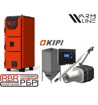 Котел Warmhaus Premium 150 кВт + пальник KIPI 150 кВт + бункер