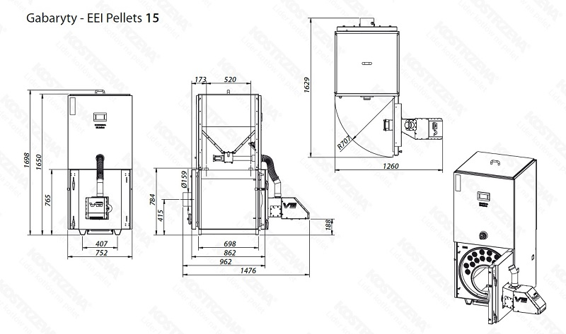 Kostrzewa EEI PELLETS 12-30 kW